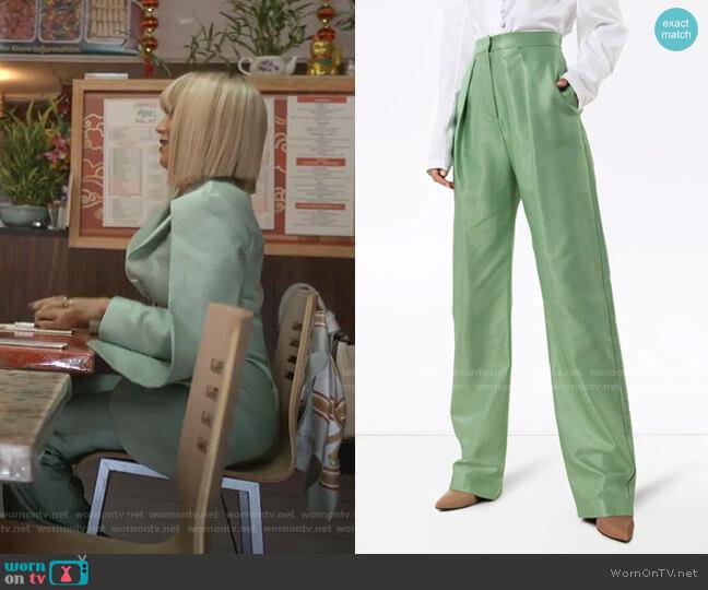High Waist Wide Leg Trousers by Aleksandre Akhalkatsishvili worn by Giselle (Nicole Ari Parker) on Empire