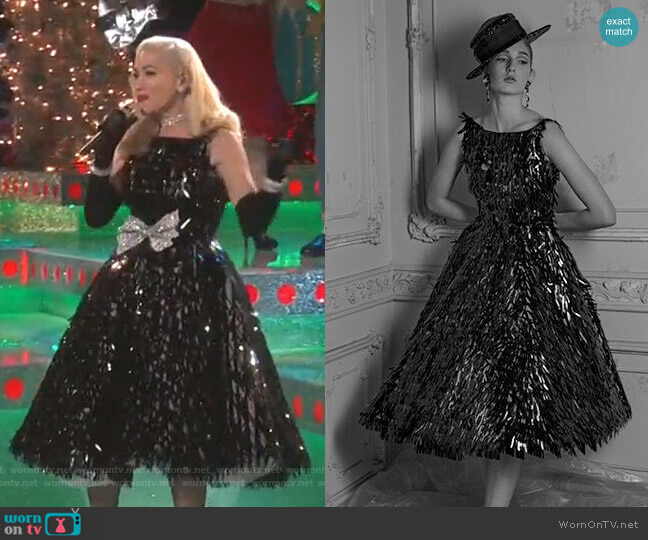 Audrey Dress by Vassilis Zoulias worn by Gwen Stefani  on The Voice