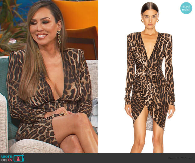 Plunging Ruched Mini Dress by Alexandre Vauthier worn by Kelly Dodd  on The Real Housewives of Orange County