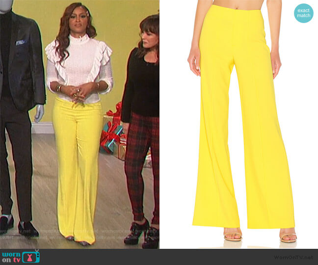 Dylan Wide Leg Pants by Alice + Olivia worn by Eve  on The Talk