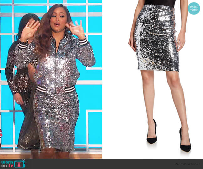 Ramos sequined tulle skirt by Alice + Olivia worn by Eve  on The Talk