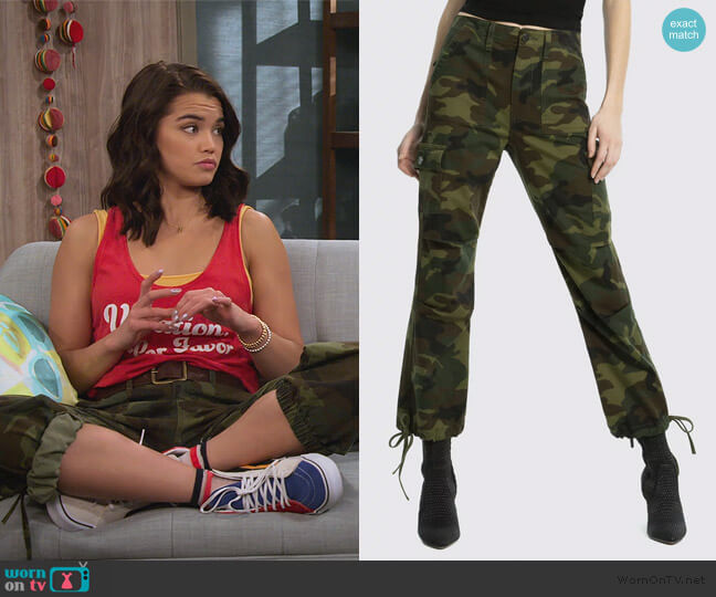 Camo Cargo Pants by Alice + Olivia worn by Alexa Mendoza (Paris Berelc) on Alexa & Katie