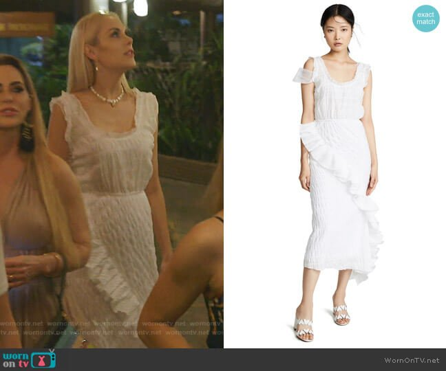 Layered Slip Dress with Ruffles by Anais Jourden worn by Kameron Westcott  on The Real Housewives of Dallas