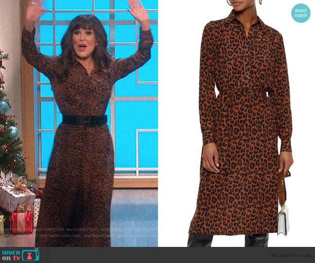 Gart belted leopard-print silk shirt dress by Antik Batik worn by Marie Osmond  on The Talk