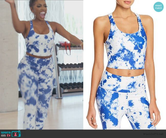 Tie-Dye Cropped Top and Leggings by Aqua Athletic worn by Porsha Williams  on The Real Housewives of Atlanta