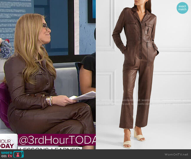 Artemis Leather Jumpsuit by Veronica Beard worn by Jill Martin  on Today