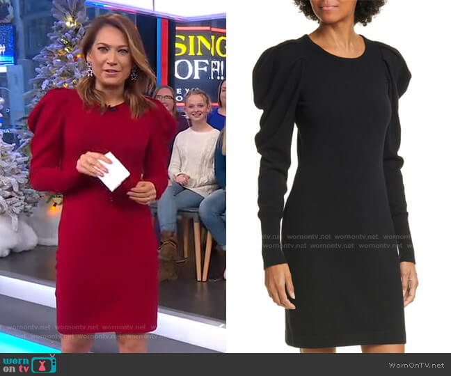 Draped Sleeve Dress by Autumn Cashmere worn by Ginger Zee  on Good Morning America