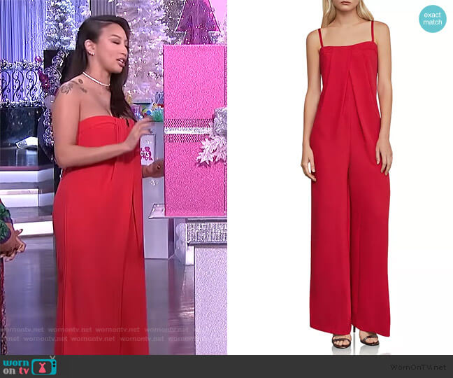 Strapless Jumpsuit by BCBGMAXAZRIA worn by Jeannie Mai  on The Real