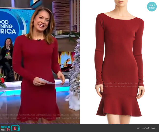 Tara Dress by Bailey 44 worn by Ginger Zee  on Good Morning America