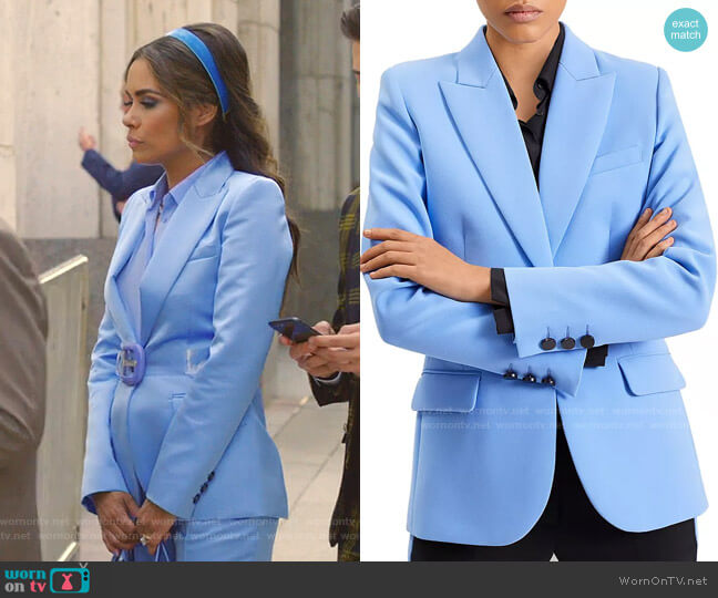 Single-Button Pierced-Back Blazer by Barbara Bui worn by Cristal Jennings (Daniella Alonso) on Dynasty