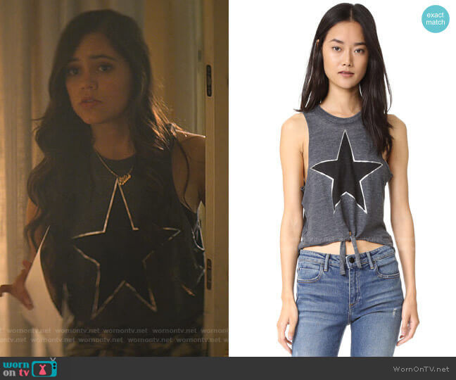 Chaser Black Star Tank worn by Ellie (Jenna Ortega) on You