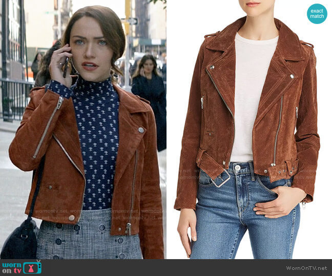 Blank NYC Suede Moto Jacket  worn by Cara Bloom (Violett Beane) on God Friended Me