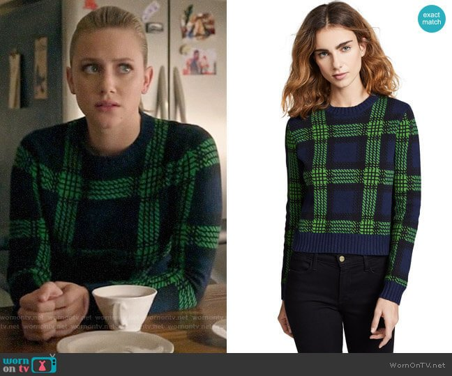 Bop Basics Tartan Plaid Sweater worn by Betty Cooper (Lili Reinhart) on Riverdale