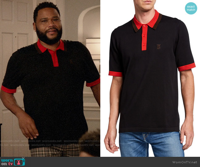 Burberry Camford Polo Shirt worn by Andre Johnson (Anthony Anderson) on Blackish