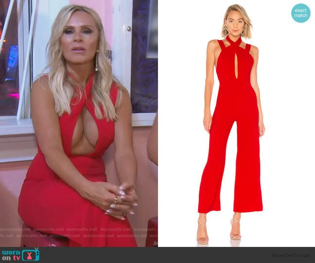 Foxy Wide Leg Jumpsuit by By the Way worn by Tamra Judge  on The Real Housewives of Orange County
