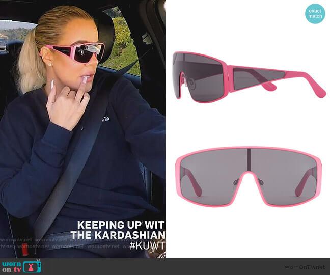 x KKW Gemini 140mm Shield Sunglasses by Carolina Lemke worn by Khloe Kardashian  on Keeping Up with the Kardashians
