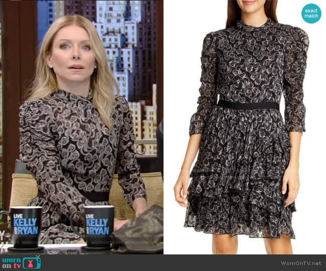 Celia Dress by Rebecca Taylor worn by Kelly Ripa  on Live with Kelly & Ryan