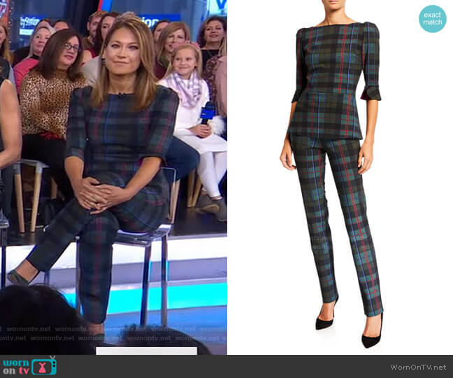 Edelmira Top and Petronilla Pants by Chiara Boni La Petite Robe worn by Ginger Zee  on Good Morning America