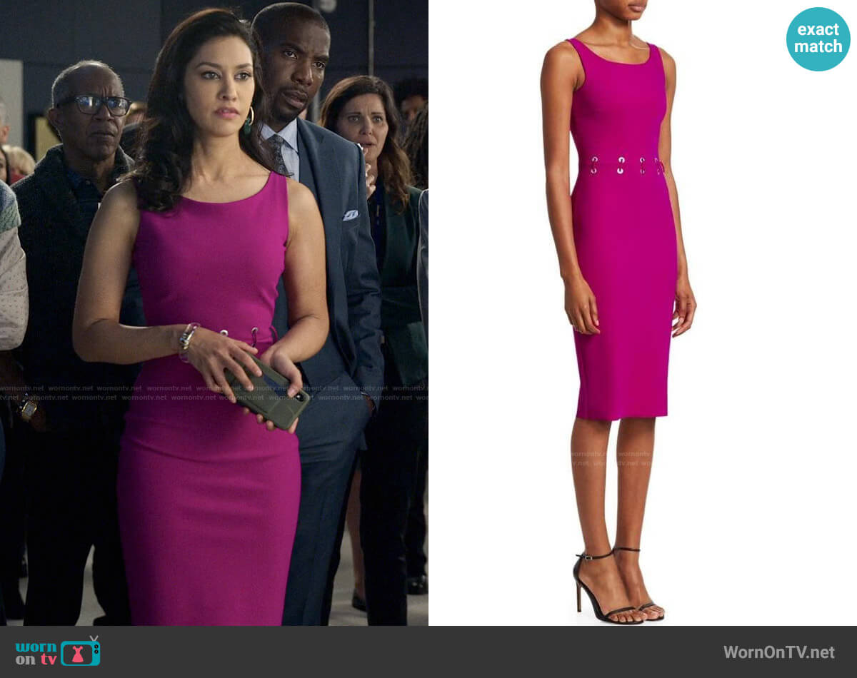 Chiara Boni La Petite Robe Maria Iris Dress worn by Alison Namazi (Janina Gavankar) on The Morning Show