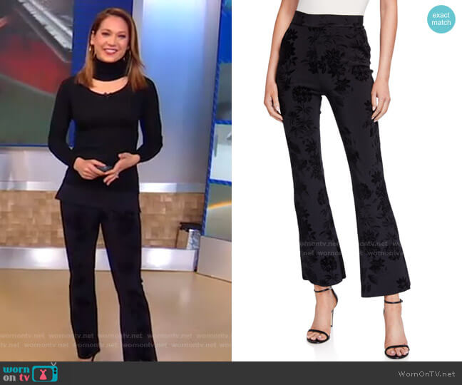 Niche Floral Printed Pants by Chiara Boni La Petite Robe worn by Ginger Zee  on Good Morning America