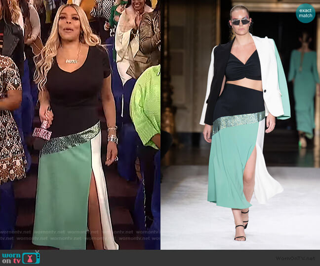 Spring 2020 Collection by Christian Sirano worn by Wendy Williams  on The Wendy Williams Show