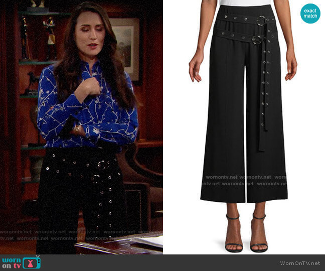 Cinq a Sept Jessi Pants worn by Quinn Fuller (Rena Sofer) on The Bold & the Beautiful