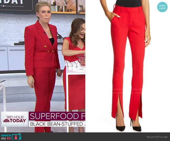 Conway Pants by A.L.C. worn by Jill Martin  on Today