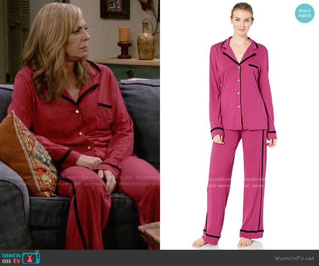 Cosabella Amore Ls Top Pant Pj Set worn by Bonnie Plunkett (Allison Janney) on Mom