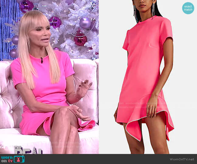 Crystal-Embellished T-Shirt Dress by Area worn by Kristin Chenoweth on The Real