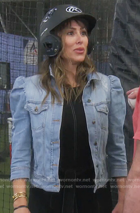 Kelly's puff denim jacket on The Real Housewives of Orange County