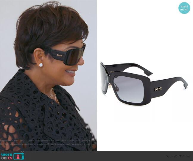 Solight2 Square Sunglasses by Dior worn by Kris Jenner  on Keeping Up with the Kardashians
