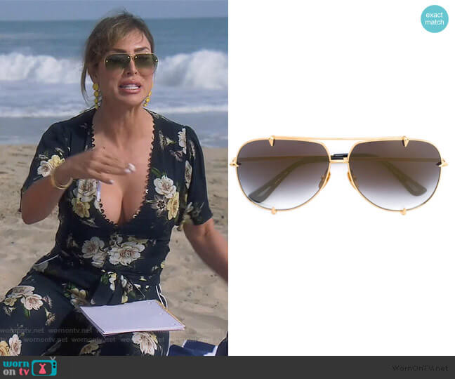 Talon Sunglasses by Dita worn by Kelly Dodd  on The Real Housewives of Orange County