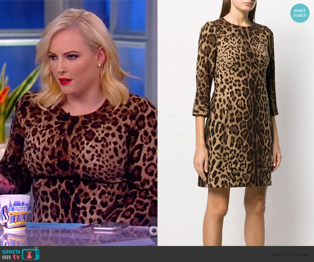 leopard print dress by Dolce & Gabbana worn by Meghan McCain  on The View