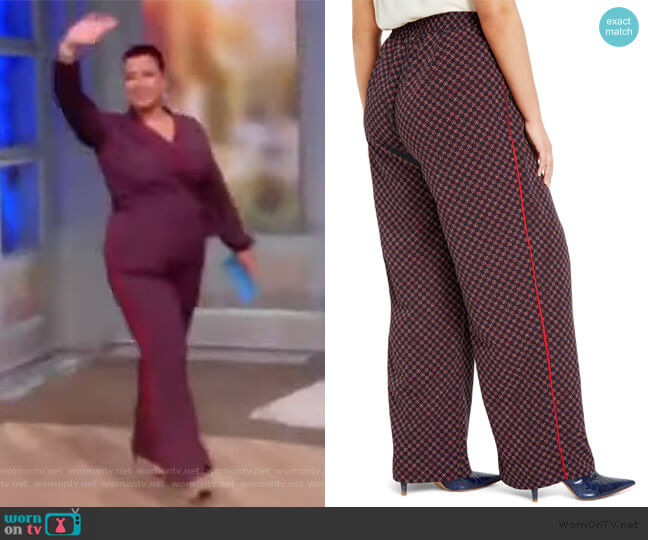 Print Wide Leg Pants by Eloquii worn by Ana Navarro  on The View