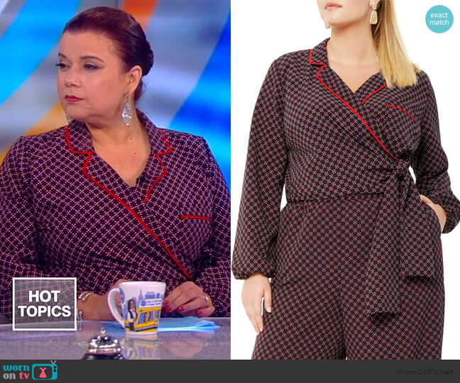 Print Wrap Top by Eloquii worn by Ana Navarro  on The View