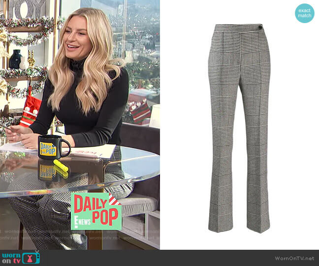 Houndstooth Check Trousers by Ermanno Scervino worn by Morgan Stewart  on E! News