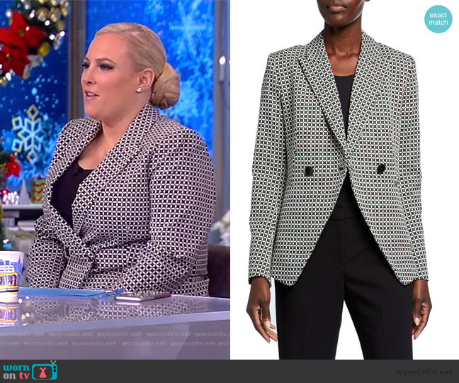 Jezebel Geo Double-Breasted Jacket by Elie Tahari worn by Meghan McCain  on The View
