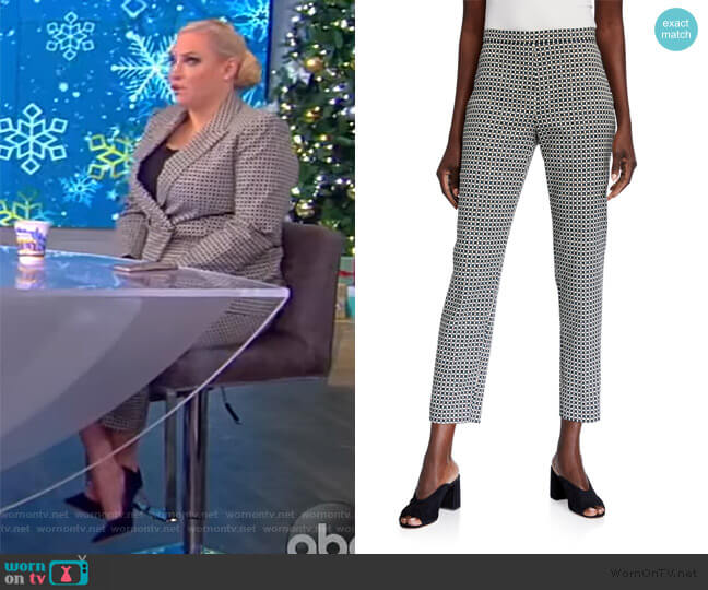 Marcia Geometric Straight-Leg Ankle Pants by Elie Tahari worn by Meghan McCain  on The View