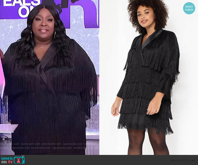 Fringe Blazer Dress by Eloquii worn by Loni Love  on The Real