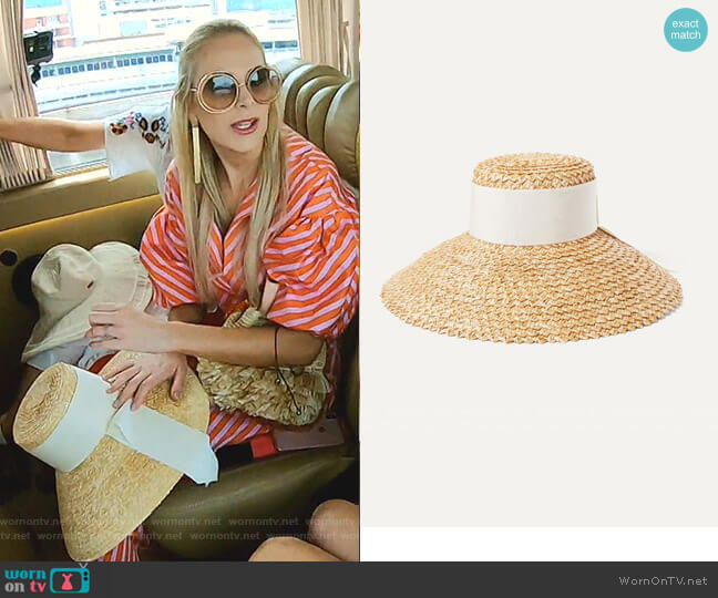 Mirabel Straw Hat by Eugenia Kim worn by Kameron Westcott  on The Real Housewives of Dallas