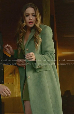 Fallon's green coat on Dynasty