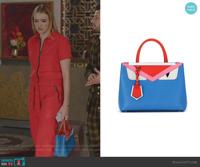 2jours Monster Bag By Fendi worn by Kirby Anders (Maddison Brown) on Dynasty