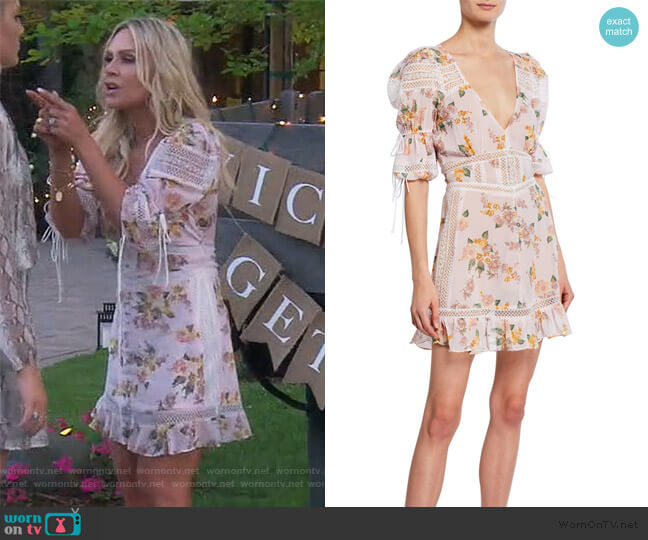 Isadora Lace-Trim Floral Dress by For Love & Lemons worn by Tamra Judge  on The Real Housewives of Orange County