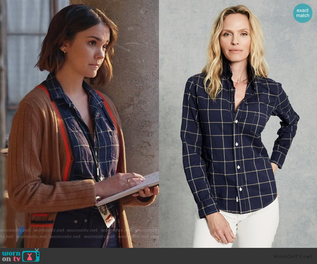 Barry Signature Crinkle by Frank & Eileen worn by Callie Foster (Maia Mitchell) on Good Trouble