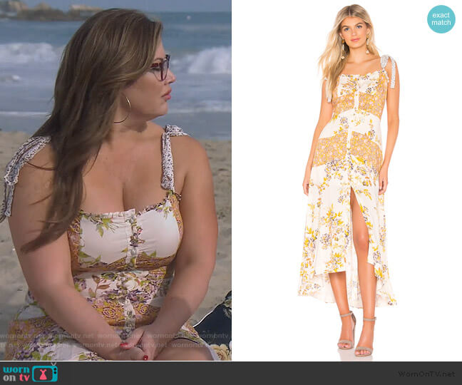 Lover Boy Maxi by Free People worn by Emily Simpson  on The Real Housewives of Orange County