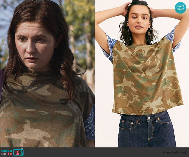 We The Free Printed Clarity Tee by Free People worn by Debbie Gallagher (Emma Kenney) on Shameless