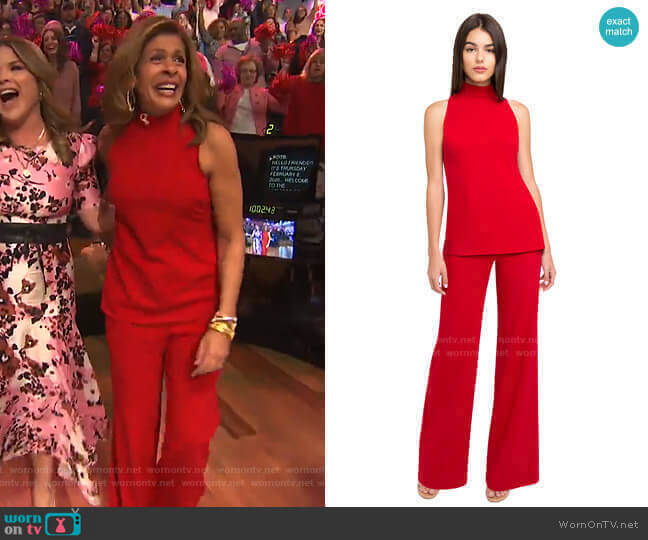 Gardenia Two Piece Jumpsuit by Black Halo worn by Hoda Kotb  on Today