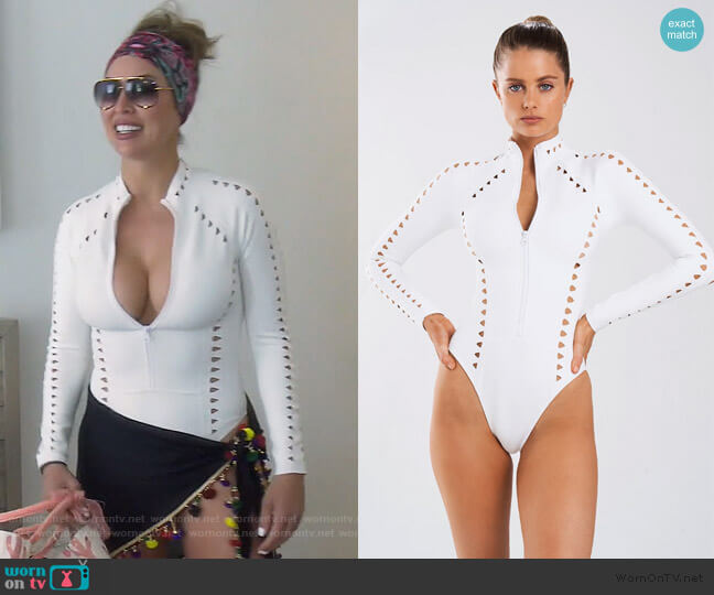 Riley Surfsuit by Gigi C worn by Kelly Dodd  on The Real Housewives of Orange County