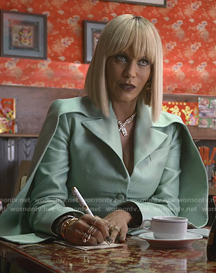 Giselle's green double sleeve blazer on Empire