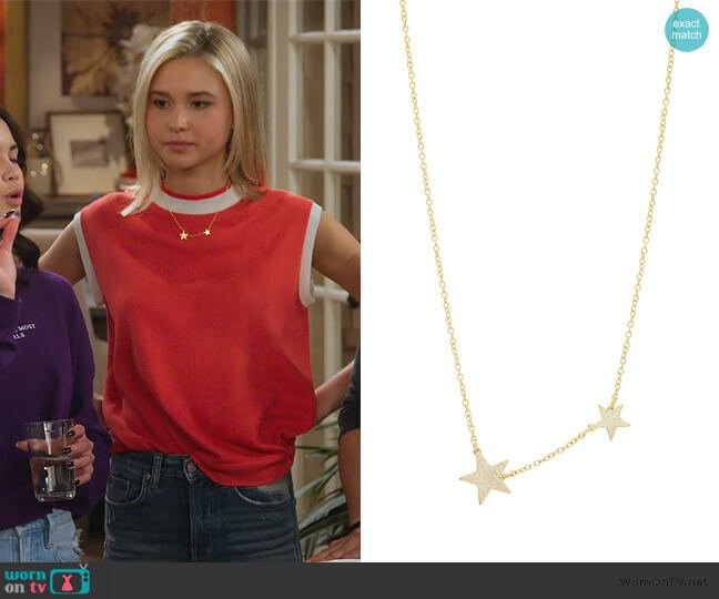 Super Star Pendant Necklace by Gorjana worn by Katie Cooper (Isabel May) on Alexa & Katie